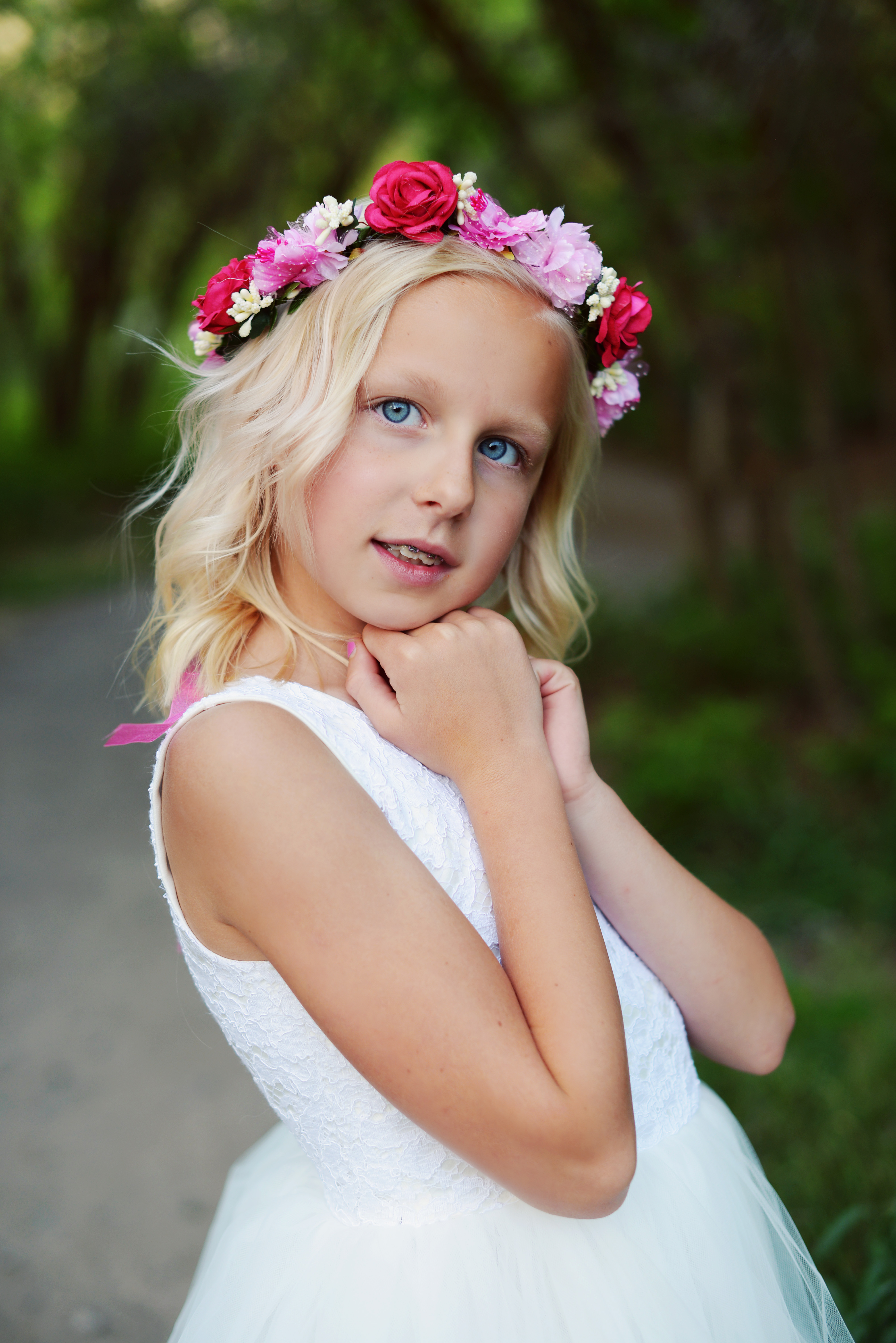 See our range of flower girl hair accessories to match the gilly this is a very pretty flower girl head wreath which suits all of our flower girl dresses mightylinksfo