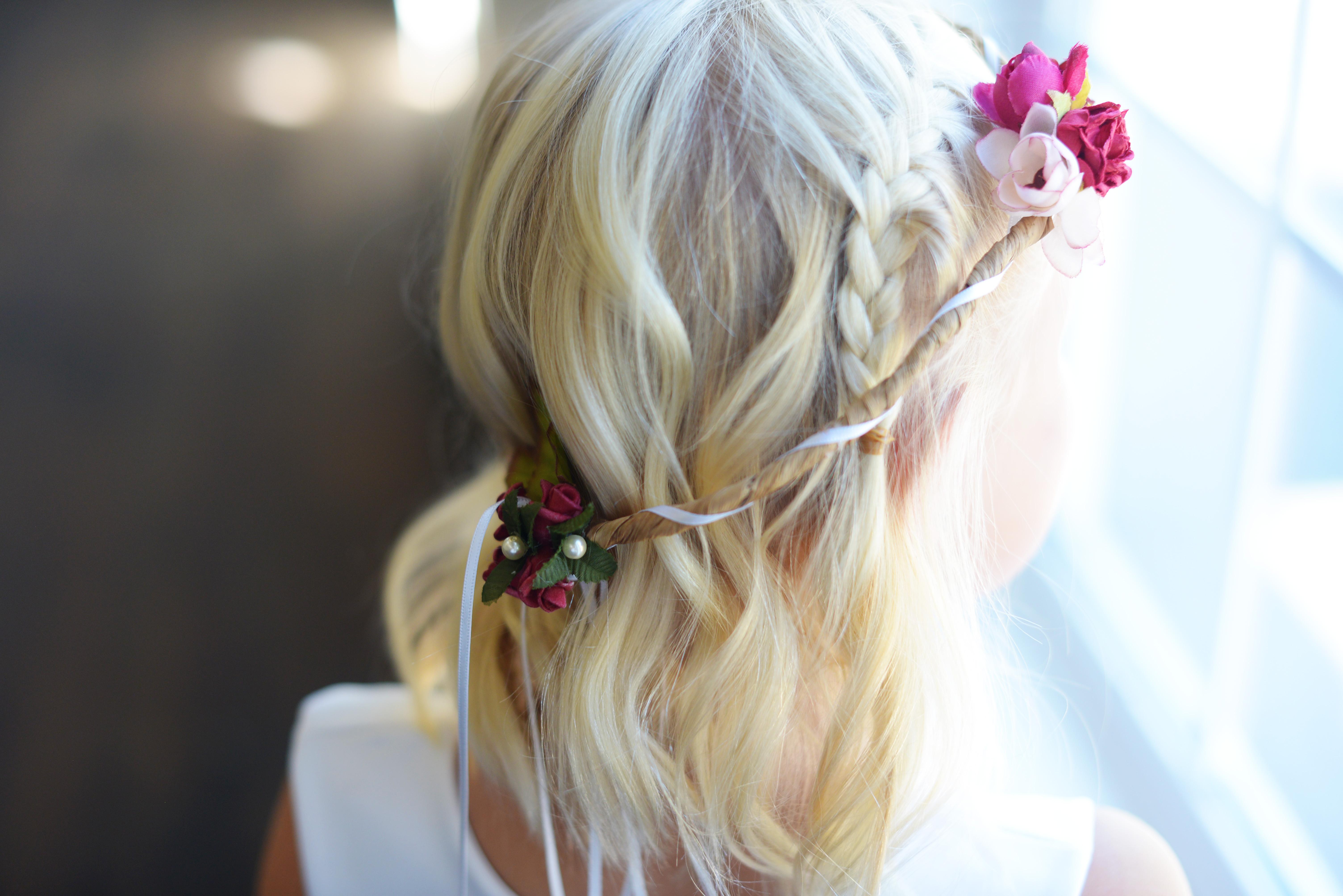 floral hair wreath flower girl accessories flower girl headbands