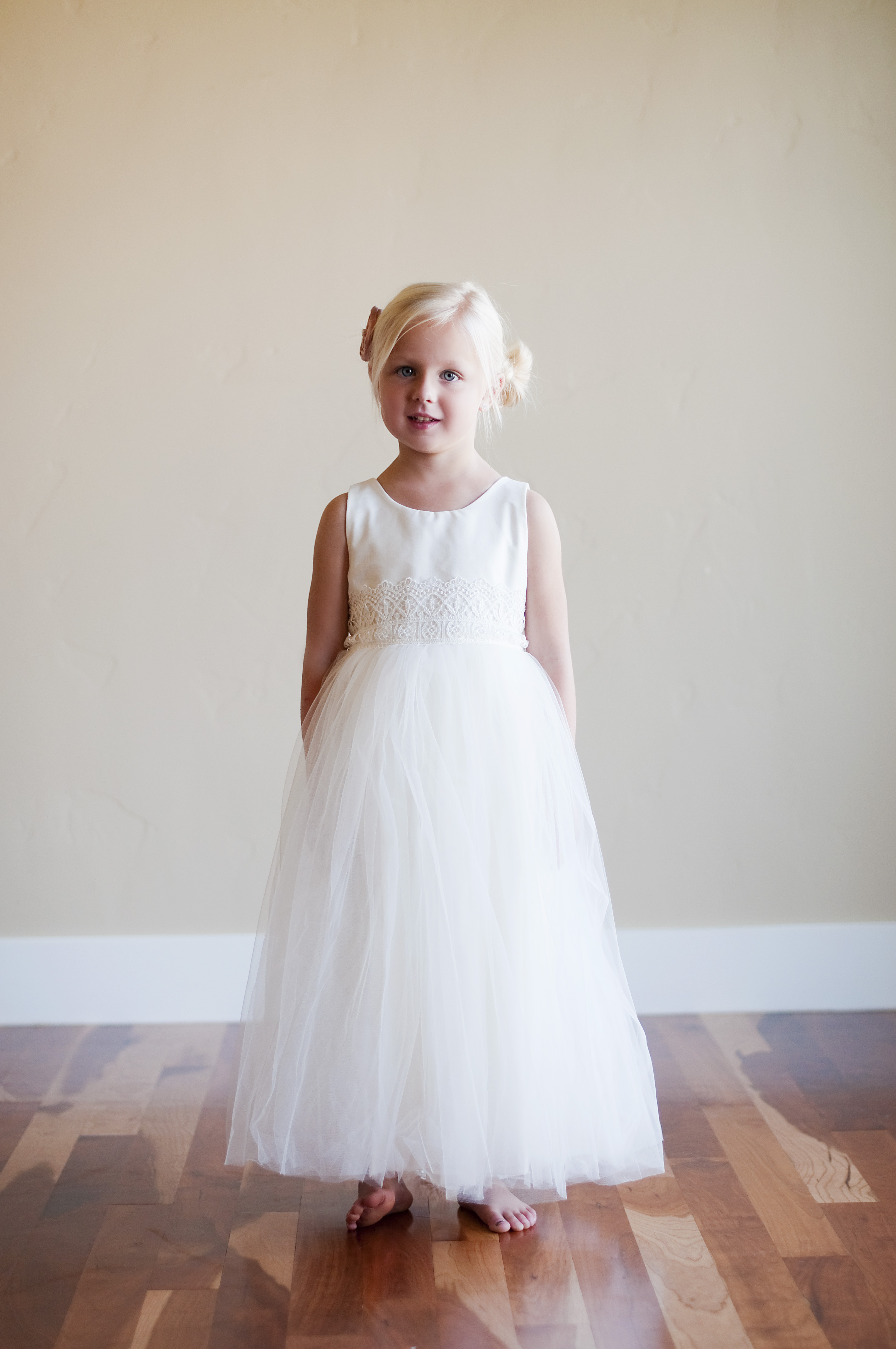 ivory flower girl dresses uk with dusty pink flower tulle skirt and lace sash