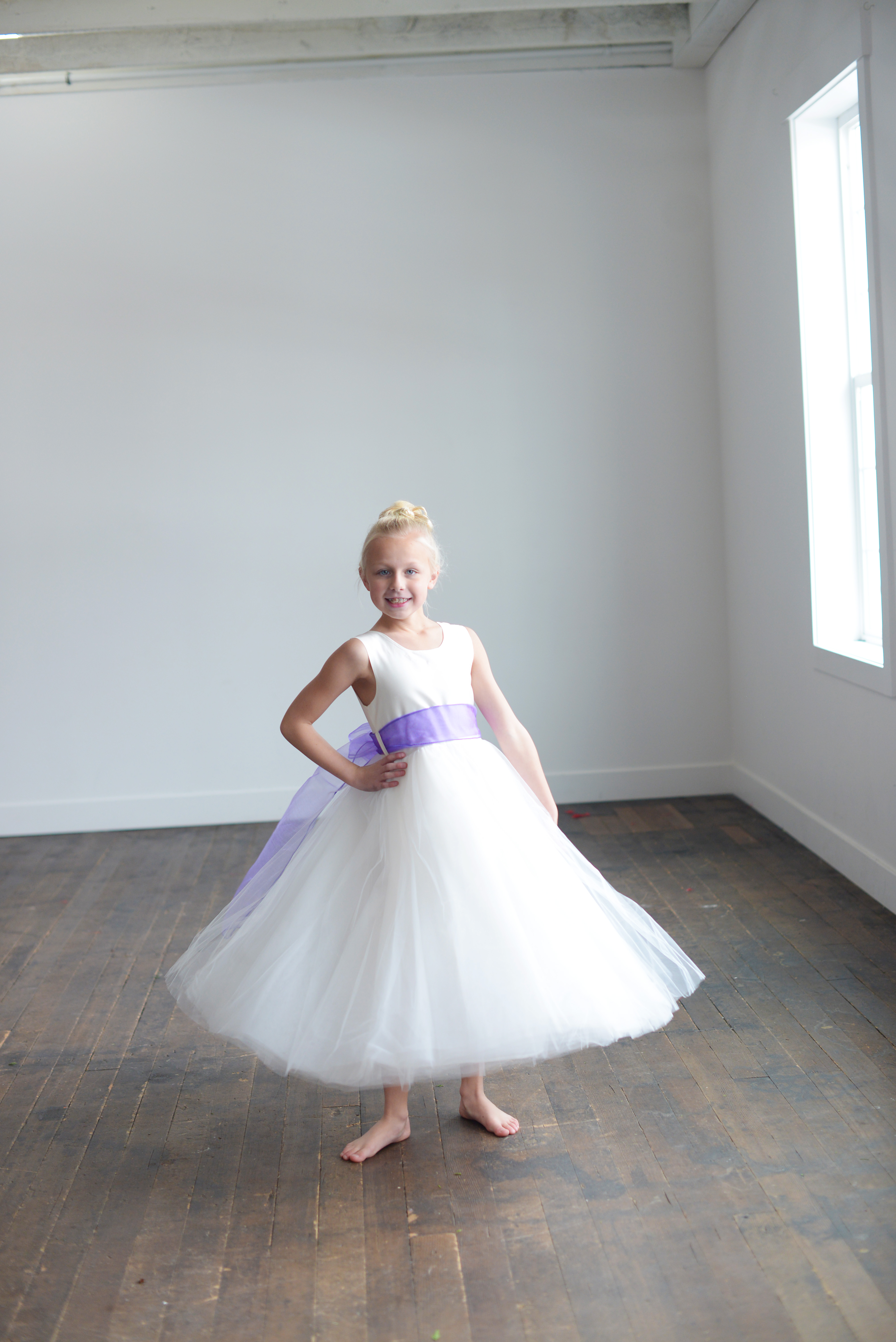 076fb8da6e4 The Purple Organza Flower Girl Dress is a pure silk and tulle dress with an  organza sash in a wide range of colours.