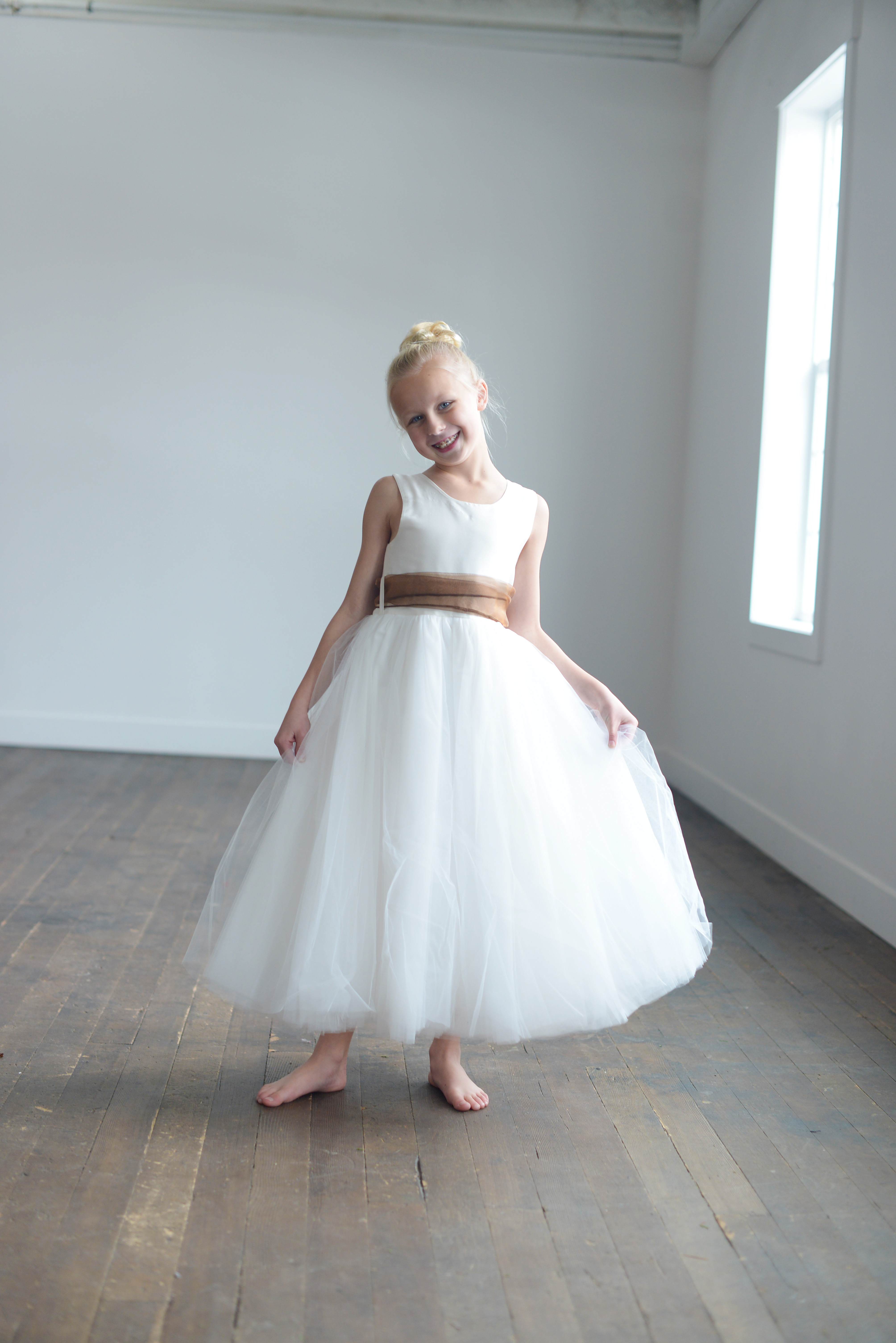 Bespoke rust, gold, copper and all colours of flower girl dress ...