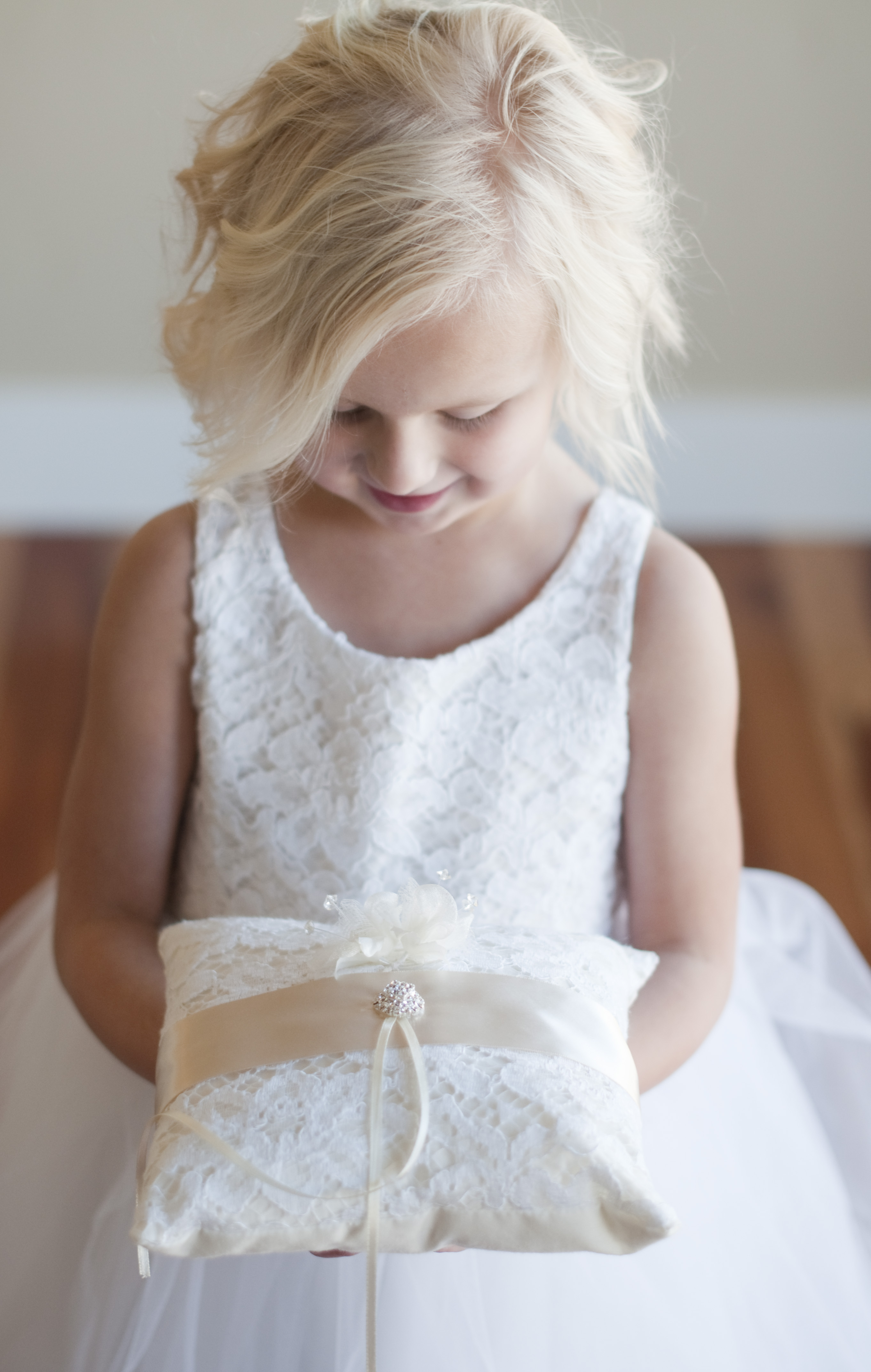 0f96af84e The Honiton Lace ring pillow is a perfect match to our Honiton Lace flower  girl dress.