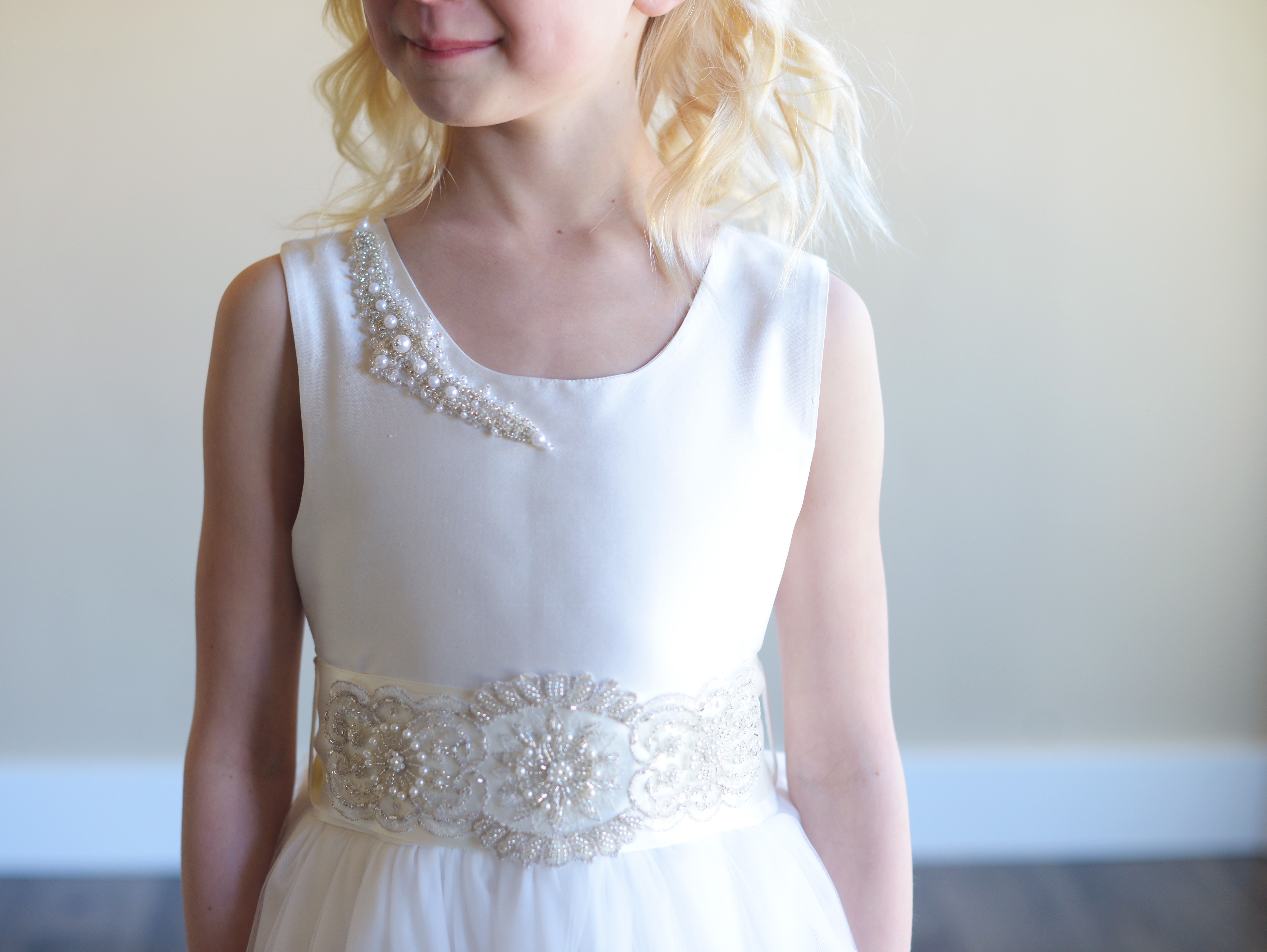 Beautiful Diamante First Communion And Flower Girl Dresses Made To