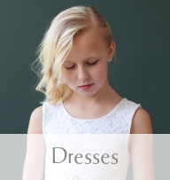 Picture of a flower girl in a lovely Gilly Gray chiffon flowergirl dress