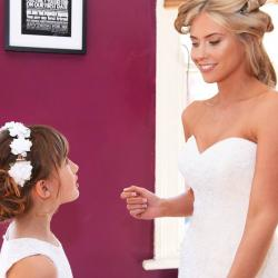 Flower girl dresses with tulle skirt, Ivory flower girl dresses