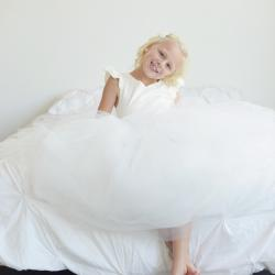 ivory flower girl dresses, flower girl dresses, flower girl dresses with sleeves