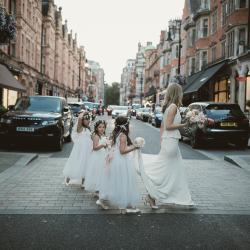 Ivory flower girl dress, flower girl dresses, dusky pink flower girl dresses