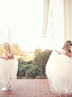 bridesmaid dress in ivory