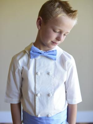 a photo of a boys peter pan collar shirt for weddings and communions