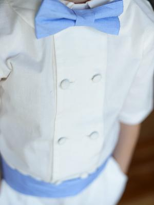 a double breasted page boy shirt with peter pan collar