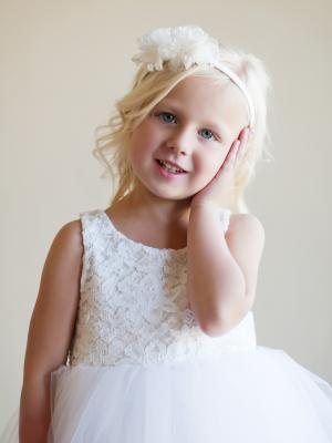 lace flower girl dress, ivory lace flower girl dress, white lace flower girl