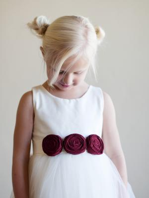 flower girldress, christmas red flower girl dress