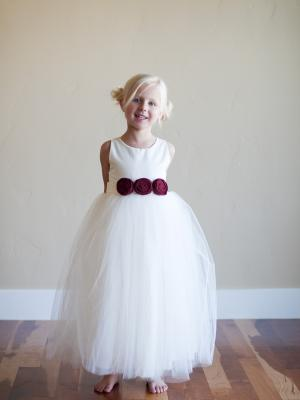 red flower girl dress, christmas flower girl dress, ivory flower girl dress