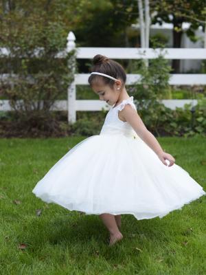 White or ivory flower girl dress -unusual flower girl dresses for toddlers