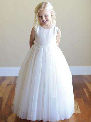 A top quality tulle and sequin flower girl dress