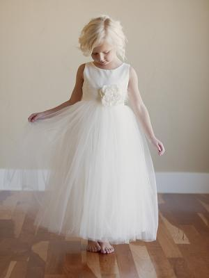 flower girl dress uk in ivory