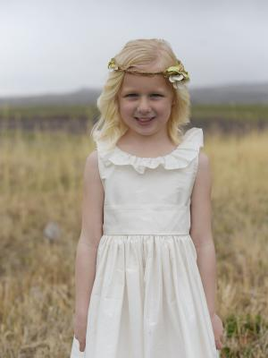silk flower girl dress, wedding ideas, silk flower girl dress