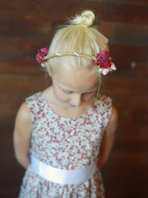 floral hair crown, wedding hair crown, floral hair wreath