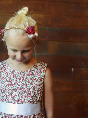 floral print flower girl dress, unusual flower girl dresses, vintage flower girl
