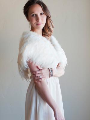 A feather wedding shawl
