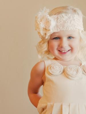 A photo of a 1920s flower girl dress or a  gatsby wedding