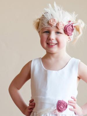 Cotton flower girl dress