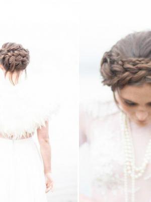 Winter wedding shrug