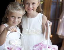 flower girl dress with tulle skirt