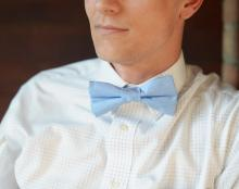 Cornflower blue bow ties, mens bow ties, blue bow ties,