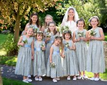 vintage style flower girl dresses UK, floral flower girl dress,