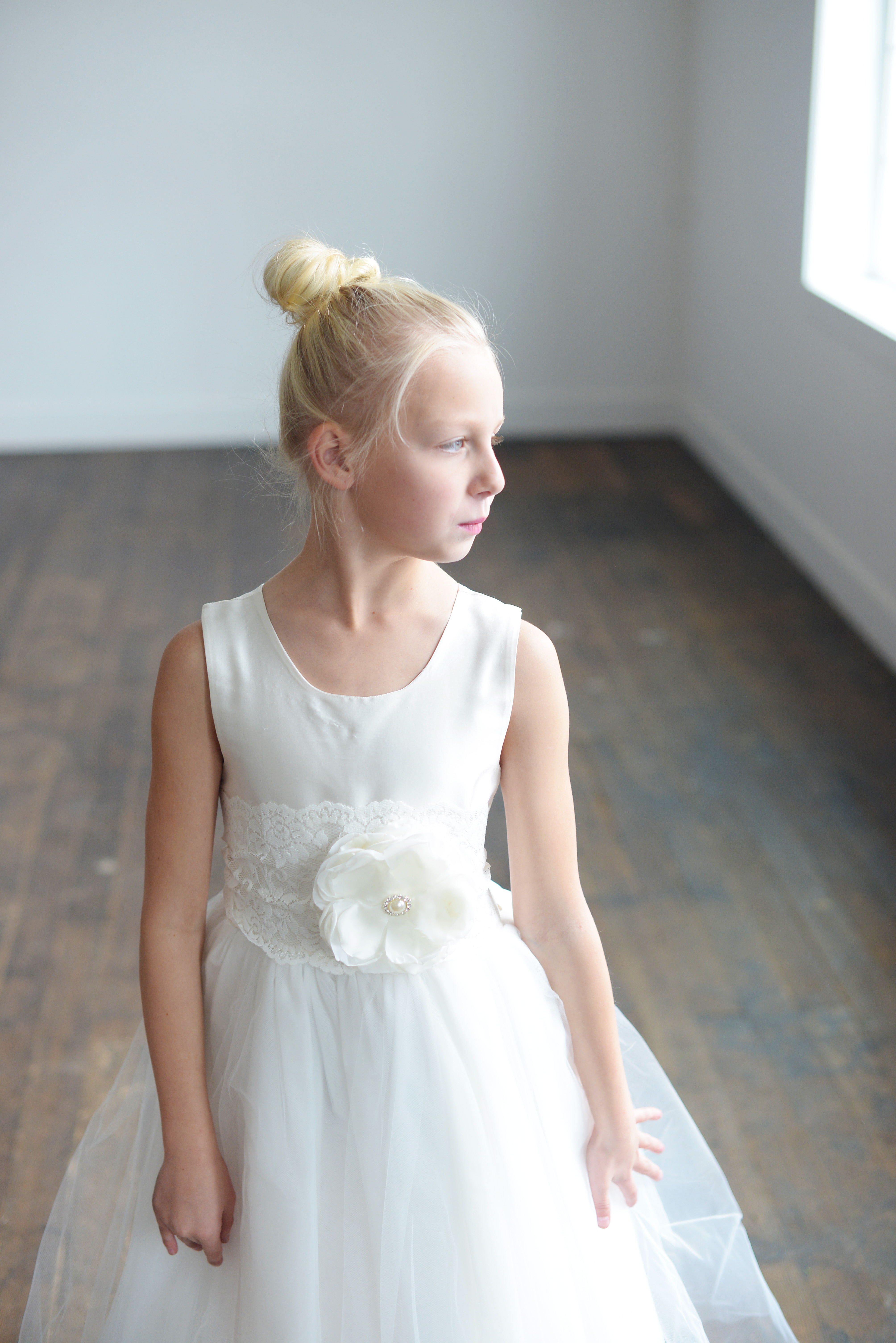 Handmade white and Ivory First Communion