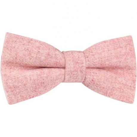 Pre tied slamon pink wool bw tie for weddings. this bow tie is made of wool and is perfect for grooms, pageboys and groomsmen at a weddings