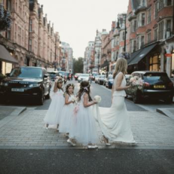 Affordable bespoke flower girl dresses in ivory & white with silks ...